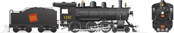 Rapido Trains 603507  Canadian National H-6-g Steam Locomotive