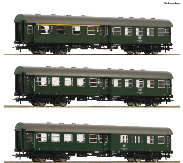 Roco 74184  3 piece set: Passenger conversion cars, DB