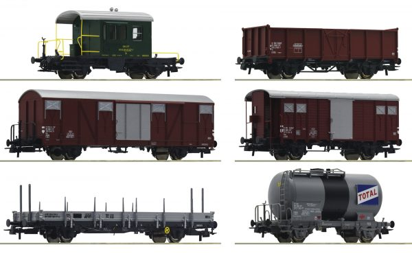"Roco 76051  6 piece goods wagon set ""Gotthardbahn"", SBB"