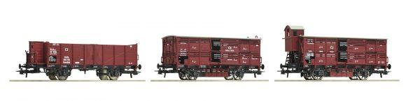 Roco 76060  3 piece set goods wagons, K.P.E.V.