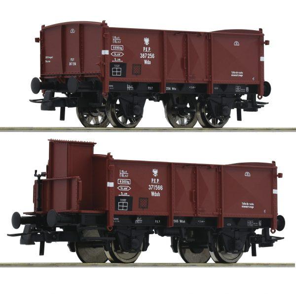 Roco 76069   2 piece set: Open goods wagons, PKP