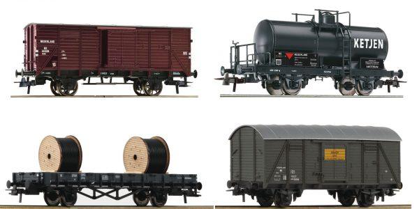 Roco 76134  4 piece set: Goods wagon, NS