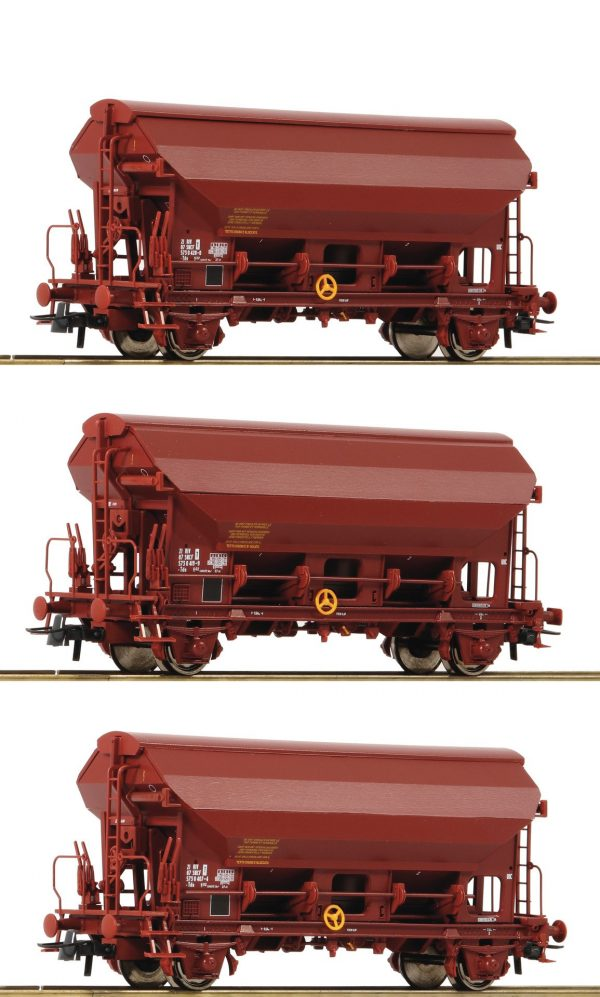 Roco 76178  3 piece set: Swing roof wagons, SNCF