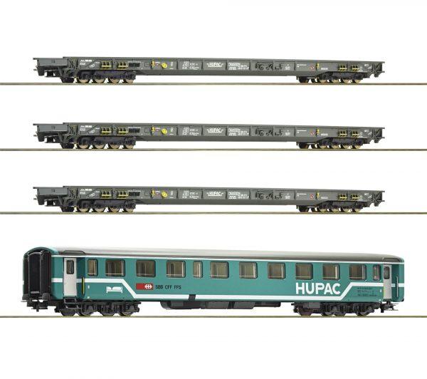 """Roco 76343  4 piece set: """"Rollende Landstrasse"""", HUPAC"""