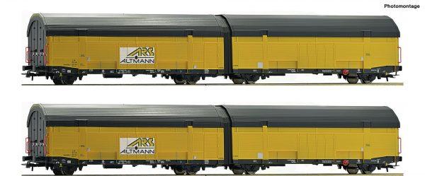 Roco 76408  2 piece set car tranport carriages, ARS Altmann