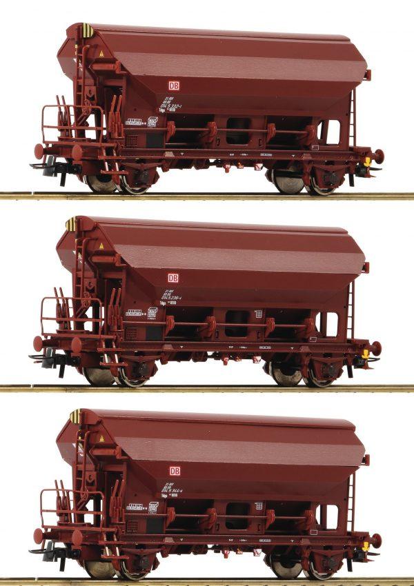 Roco 76575  3 piece set: Swing roof wagons, DB AG