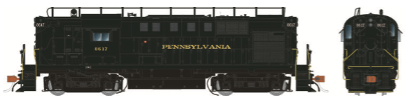 Rapido Trains 31026   Pennsylvania RR (w/Trainphone Antenna) Diesel Locomotive Alco RS-11 (DC Silent)