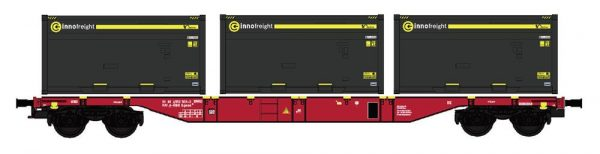 """B-Models 90800.2  Innofreight Container Wagon A-ÖBB Sgns """"KOKS-KOHLE"""""""