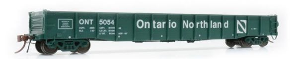 "Rapido Trains  52' 6"" Mill Gondola Ontario Northland − Progressive Set 1 #5000"