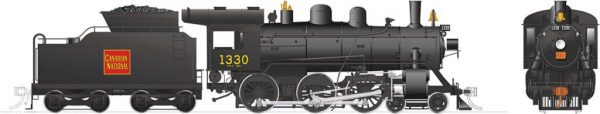Rapido Trains 603510  Canadian National H-6-d Steam Locomotive