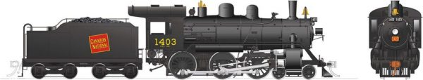 Rapido Trains 603509  Canadian National H-6-g Steam Locomotive