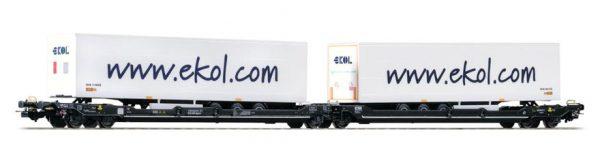 Piko 54770 T3000e Articulated Pocket Wagon, Kombiverkehr