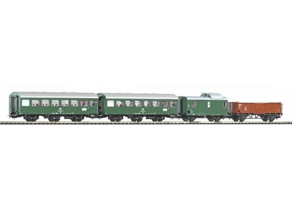 Piko 58371  Set of 3 passenger cars and goods wagon, DR