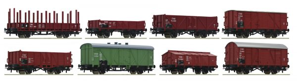 Roco 44001  8-piece set freight cars, CSD