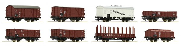 Roco 44003  8-piece set freight cars, DRG