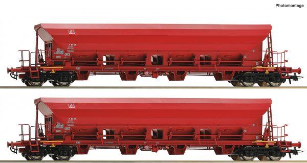 Roco 67087 - 2 piece set self unloading hopper wagons, DB AG