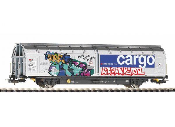 Piko 58966   Open-top sliding wall wagon with graffiti, SBB