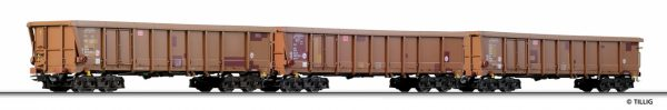 Tillig 74185 Set Of Three Gondolas Type Tamns 893, DB AG