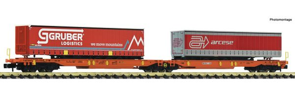 FLEISCHMANN 825016  Articulated double pocket wagon, Wascosa