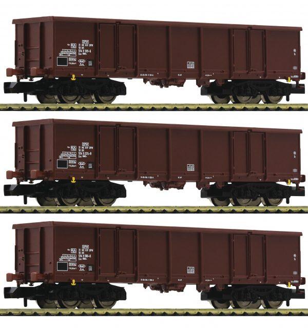 Fleischmann 828347  3-piece set goods wagons type Eas, DR