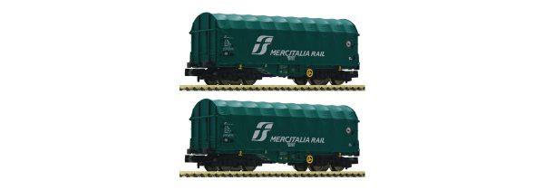 Fleischmann 837928  2 piece set slide tarpaulin wagons, FS