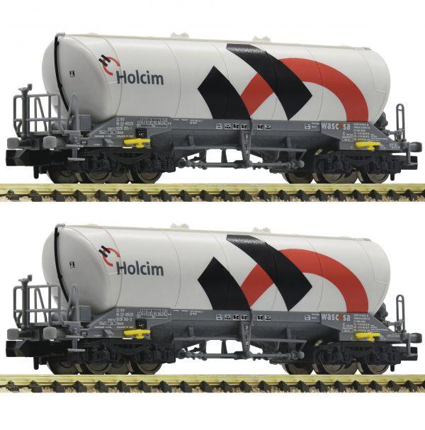 FLEISCHMANN 848903  2-piece set silo wagons, Holcim/Wascosa