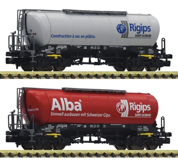 FLEISCHMANN 848904  2-piece set silo wagons, Rigips/Wascosa