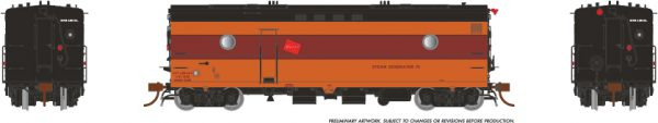 Rapido Trains 107329 Steam Heater Car Milwaukee Road 1950