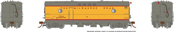 Rapido Trains 107332 Steam Heater Car Milwaukee Road 1955