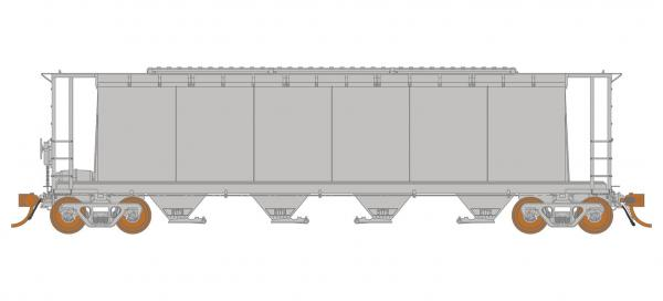 Rapido Trains 127098   3800 cu. ft. Covered Hopper: Undecorated Kit - Marine Industries 6-panel