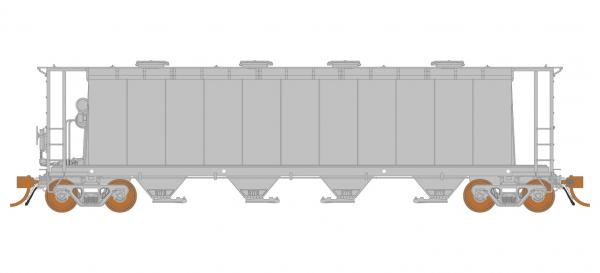 Rapido Trains 127099   3800 cu. ft. Covered Hopper: Undecorated Kit - National Steel Car 11-panel
