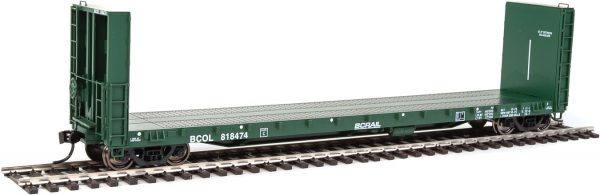 Walthers Proto 104329  50' CC&F Bulkhead Flatcar, BC Rail BCOL