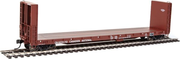 Walthers Proto 104332  50' CC&F Bulkhead Flatcar, Canadian National