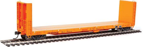 Walthers Proto 104335  50' CC&F Bulkhead Flatcar, Canadian National