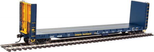 Walthers Proto 104338  50' CC&F Bulkhead Flatcar, Ontario Northland