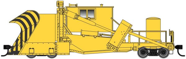 Walthers Proto 110126  Jordan Spreader,  Yellow (Painted, Unlettered)