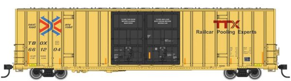 Walthers Mainline 2977   60′ High-Cube Plate F Boxcar, TTX TBOX