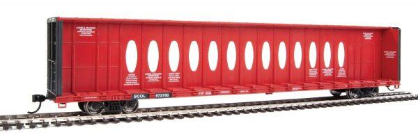Walthers Mainline 4822   72' Centerbeam Flatcar w/ Opera Windows, British Columbia Railway