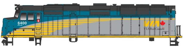 Walthers Mainline 19472  EMD F40PH Phase IIb, VIA Rail (DCC w/Sound)