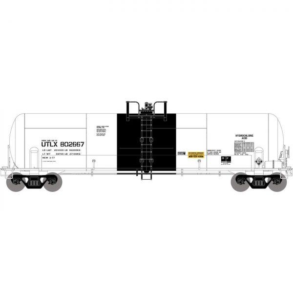 Athearn 15913  RTC 20,900-Gal Acid Tank, UTLX