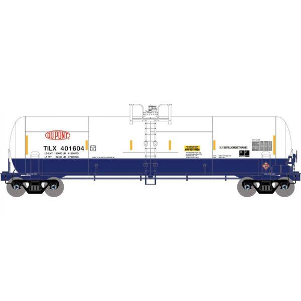 Athearn 15929  RTC 20,900-Gal Acid Tank, TILX / Dupont (3 pack)