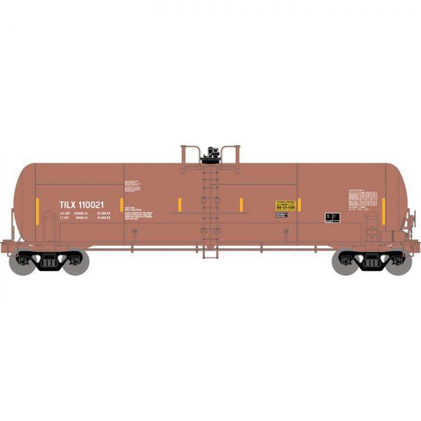 Athearn 15932  RTC 20,900-Gal Acid Tank, TILX / Red-Brown