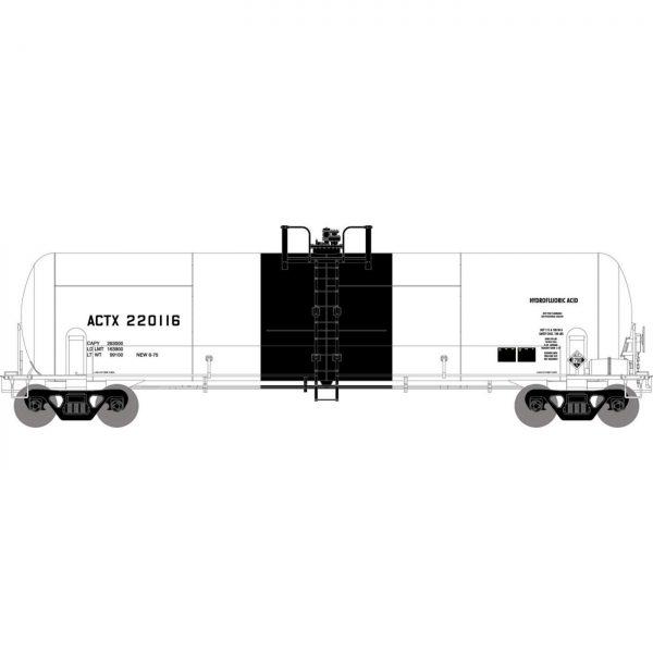 Athearn 15936  RTC 20,900-Gal Acid Tank, ACTX