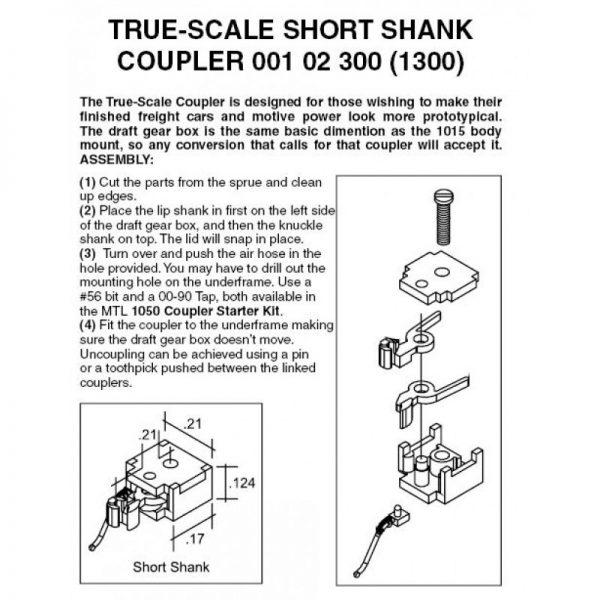 Micro Trains 102300   N True Scale Short Shank Coupler (2 Pair)
