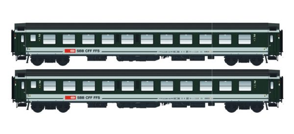 LS Models 47272  Set of 2 passenger cars 2nd class, SBB