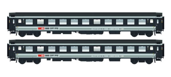 LS Models 47273  Set of 2 passenger cars 2nd class, SBB
