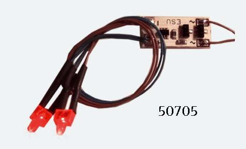 ESU 50705   LED lighting strip, taillight, 2 LED, Red