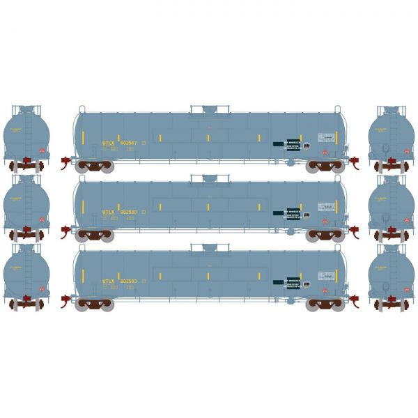 Athearn Genesis 25606  33,900 Gallon LPG Tank, UTLX (3 pack)