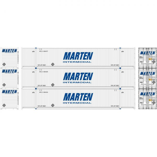 Athearn 26637  53' CIMC Containers, Marten (3 Pack)