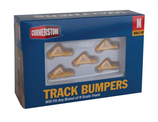 Walthers Cornerstone 2602  Track Bumper - Yellow pkg(5)